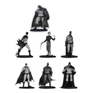Batman Black & White Pack de 7 Minifiguras Box Set DC Comics