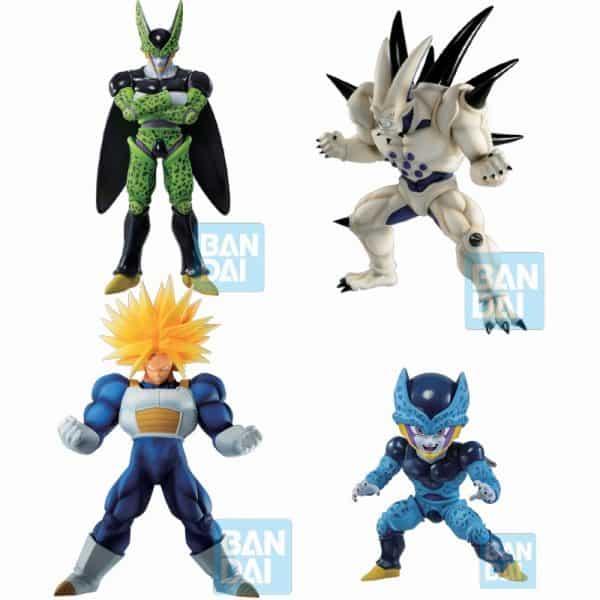 Pack 4 Figuras Omega Shenron, Perfect Cell, Cell Jr & Trunks Ichibansho Vs Omnibus